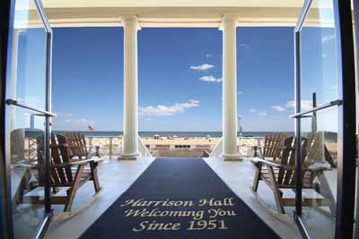 Welcome to Ocean City from the Harrison Hall Hotel